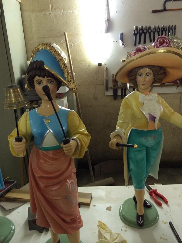 Herschilderen orgelbeelden